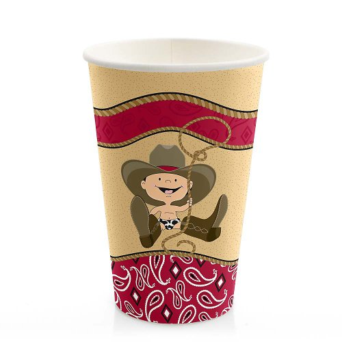 Little Cowboy - Baby Shower Hot/Cold Cups - 8 Ct front-703147