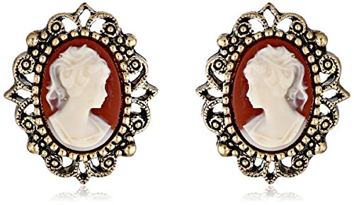 1928 Jewelry Vintage-Inspired Escapade Button Earrings