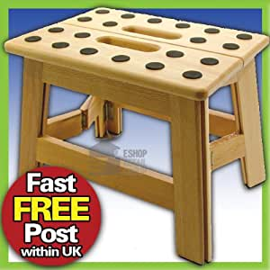 Great Ideas Quality Wooden Step Stool From Beech Wood