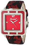 Bombshell Women's BS1065RE Lily Fashionable Red Lace Overlay Strap Crystal Case Watch