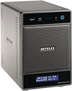 NETGEAR ReadyNAS Ultra 4 (4-bay, 4TB: 2 x 2TB) Network Attached Storage, latest generation RNDU4220