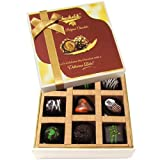 Chocholik Belgium Gift - 9pc Soft And Sweet Dark Chocolate Box