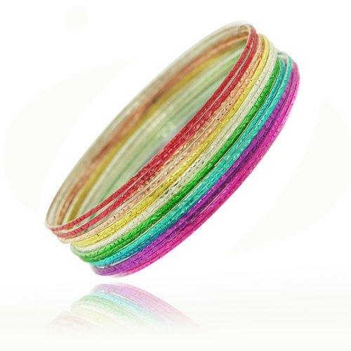 Multicolor Bangles Set - 18 pieces