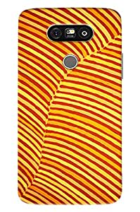 Blue Throat Yellow Stripes Hard Plastic Printed Back Cover/Case For LG G5