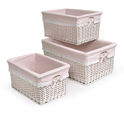 Badger Basket Badger Basket Three Basket Set, Pink
