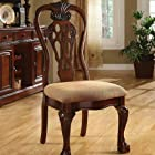 Georgetown Cherry Finish Formal Dining Chair (Set of 2)