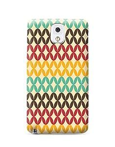 Bagsfull Designer Printed Matte Hard Back Cover Case For Samsung Galaxy Note 3 N9000