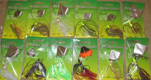 12 Assorted Buzz baits Carded NIP Fishing Tackle
