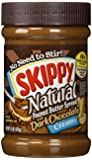 Skippy Creamy Natural Peanut Butter Spread with Dark Chocolate, 15 oz