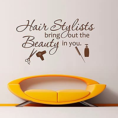 Hair Salon Beauty Quote-¡®Hairstylists Bring Out The Beauty In You ¡¯Salon Shop Wall Sticker Barber Shop Decoration Art Poster