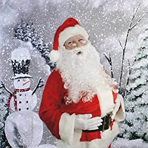Christmas 'Snowman' Hand Painted Seamless Photo Backdrop Background 9ft x 9ft New By PBL