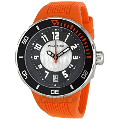 Philip Stein Men's 34-BRG-RO Extreme Orange Rubber Strap Watch