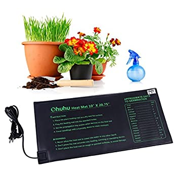 Plant Heating Mats, Ohuhu Seedling Heating Mat, IP67 Waterproof Plant Warm Mat, 18W Hydroponic Heating Pad for Indoor Seedling and Germination, 10
