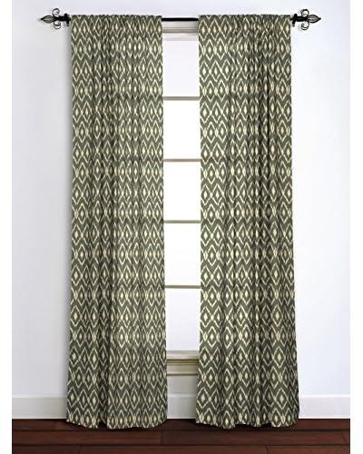 Rizzy Home Grey Ikat Window Panel