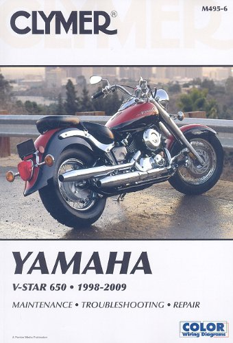 yamaha v star wiring diagram yamaha image wiring clymer yamaha v star 650 1998 2009 clymer color wiring diagrams on yamaha v star wiring
