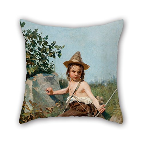 Slimmingpiggy Pillow Shams Of Oil Painting Oscar Pereira Da Silva - Giottoâ€TMs Childhood,for Divan,bedding,husband,bedroom,boy Friend,home 16 X 16 Inches / 40 By 40 Cm(twice Sides) (Red Hood Poster Dc compare prices)