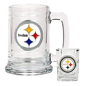 Pittsburgh Steelers NFL Boilermaker Set - Primary Logo
