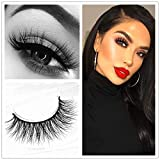 Miss Kiss Brand Eye Lash Mink Hair 3D Lashes Natural Style Makeup Strip Eyelashes 100% Siberian Fur Fake Eyelashes Hand-made False Eyelashes 1 Pair Package Case (3D04) (Tamaño: 3D-04)
