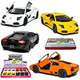 "12 pcs in Box: 5"" Lamborghini Murcielago LP640 1:36 Scale (Black/Orange/White/Yellow)"