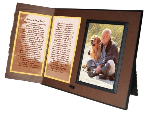 Best Friend Poem Pet Memorial Keepsake Picture Frame and Pet Loss Sympathy Gift, Chestnut Brown with Foil Accent