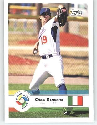 2009 Topps World Baseball Classic # 40 Chris Denorfia - Italy - Oakland Athletics - WBC Trading Card