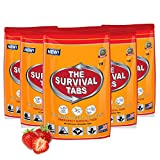 Survival Tabs 10-day Food Supply 120 Tabs Emergency Food Bugout for Disaster Preparedness for Earthquake Tsunami Gluten Free and Non-GMO 25 Years Shelf Life Long Term Food Storage - Strawberry Flavor