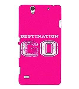 PrintVisa Destination Go Design 3D Hard Polycarbonate Designer Back Case Cover for Sony Xperia C4 Dual
