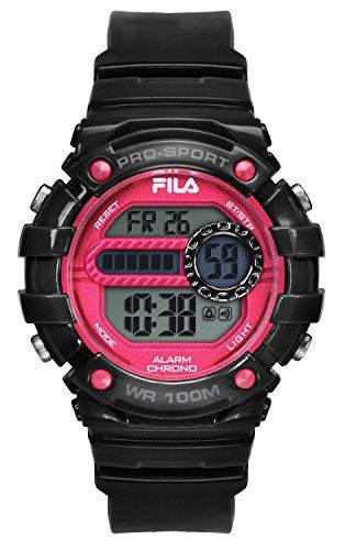 Fila-Bracciale unisex orologio digitale al quarzo 38-099-001FILACTIVE Nero Rosso Plastica