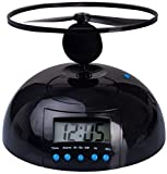 Venkon - Flying Helicopter Alarm Clock: The Propeller Flies Away When the Alarm Goes Off - Black