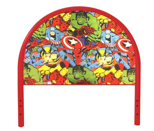 New Twin Size Children'S Youth Red Metal Headboard With Custom Avengers Superheros Upholstered Headboard