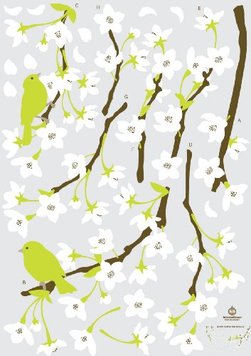 Reusable Decoration Wall Sticker Decal - Spring Flowers and Birds