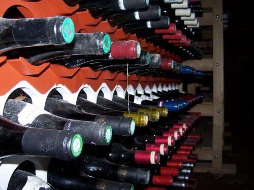 Casier bouteille range bouteilles empilable et d co couleur noir lumineux c - Range bouteille brique ...