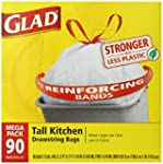 Glad Tall Kitchen Drawstring Trash Ba...
