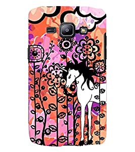 Samsung Galaxy J1 MULTICOLOR PRINTED BACK COVER FROM GADGET LOOKS