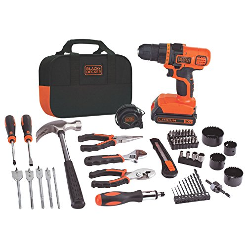 BLACK+DECKER LDX120PK 20-Volt MAX Lithium-Ion Drill and Project Kit (Drill Lithium Ion compare prices)