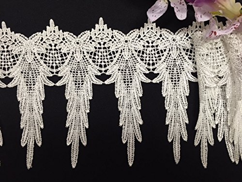 For Sale! 6 Goatee Fringe Venice Lace Trim Off White, 2 Yard Lot