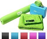 Search : Fit Spirit® Green Yoga Starter Set Kit - Includes 3mm PVC Mat, Yoga Block, Yoga Towels & Yoga Strap