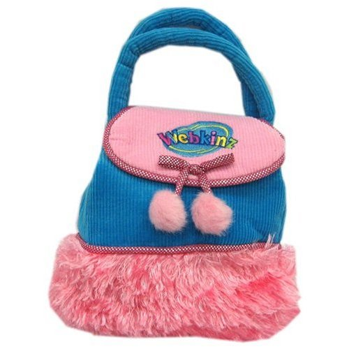 Webkinz Purse Turquoise Blue and Pink 8""