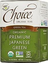 Choice Organic Premium Japanese Green Tea 16-Count Box Pack of 6