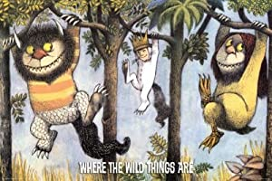 Where the Wild Things Are Hanging From Trees Art Print Poster