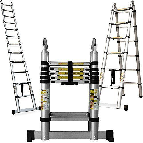 Multifunktionsleiter-380cm-Teleskopleiter-Aluleiter-Mehrzweckleiter