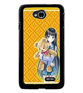 PrintDhaba Sweet Girl D-1288 Back Case Cover for LG L90 (Multi-Coloured)