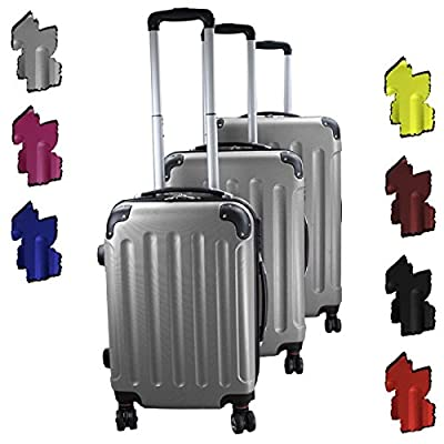 Set of 3 Travel Trolley Luggage Suitcase Experience 2.0 with 360° Double Wheels from BB Sport