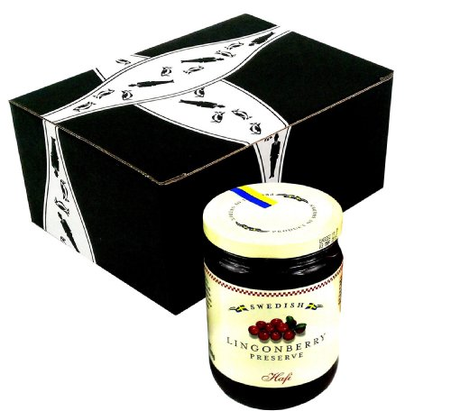 Hafi Lingonberry Preserves, 14.1 oz Jar in a