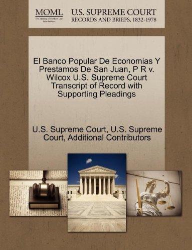 el-banco-popular-de-economias-y-prestamos-de-san-juan-p-r-v-wilcox-us-supreme-court-transcript-of-re