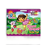 Dora the Explorer A3 Artist Pad with crayons