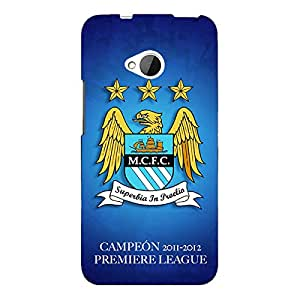 Jugaaduu Manchester City Back Cover Case For HTC One M7