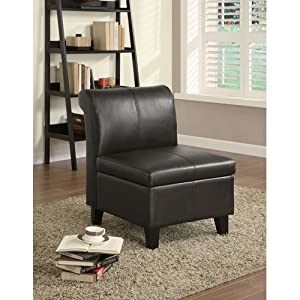 Coaster 900270 Armless Stationary Chair with Wood Feet, Cappuccino