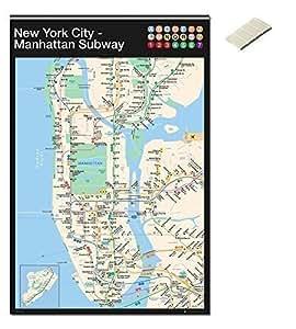 Bundle  2 Items  New York City Manhattan Subway Map