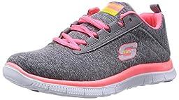 Skechers Sport Women\'s Next Generation Fashion Sneaker,Grey/Coral,8 M US